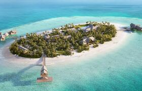 Eine Insel im Indischen Ozean ganz für sich allein finden Ruhesuchende im Waldorf Astoria Maldives Ithaafushi. Bildnachweis: Waldorf Astoria Hotels & Resorts